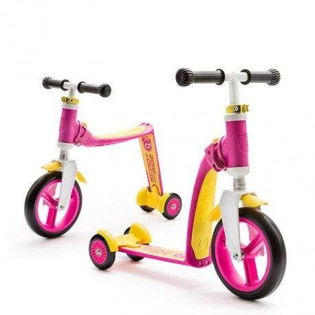 Hulajnoga i rowerek 2w1 Pink Scootandride - 4kidspoint.pl
