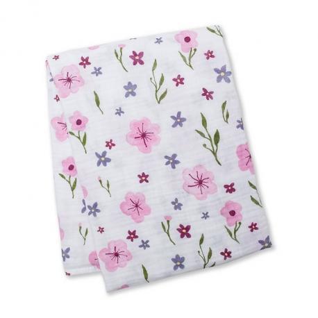Kocyk Muślinowy Lovely Floral Lulujo - 4kidspoint.pl